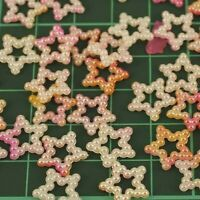 Pink Pearl Ombre Star Wedding Table Confetti Scatter Decorations x 50 pcs PO2