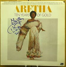 """Aretha Franklin signed Ten Years of Gold 12"""" LP"""