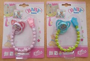 Baby Born - Schnuller mit Schnullerkette für Puppe - Zapf Creation 824474 - NEU