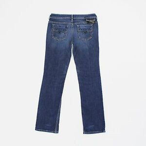 Diesel Womens 31w Long Leg 33L Bebel Straight Blue Jeans