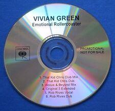 Vivian Green Emotional Rollercoaster CD Promo 6 Remixes That Kid Chris Rob Rives