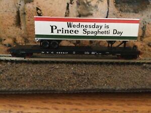 N Scale Micro trains 50' tofc flat car w/load NYC PRINCE SPAGHETTI NIB