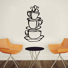 Removable DIY Kitchen Decor Coffee House Cup Decals Vinyl Wall Sticker New