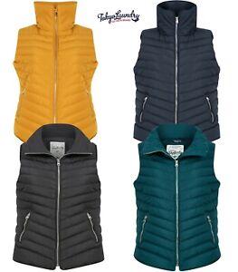 Women's Tokyo Laundry Gilet Bodywarmer Padded Zipped Pockets Size 8 10 12 14 16