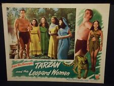Tarzan and the Leopard Woman Johnny Weissmuller 1946 Lobby Card VF Acquanetta