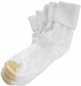 Gold Toe Womens 3-pk. Bermuda Rib Socks 9.5-11 White