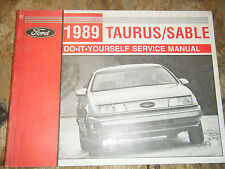 1989 FORD TAURUS MERCURY SABLE ORIGINAL FACTORY DO IT YOURSELF MANUAL SERVICE