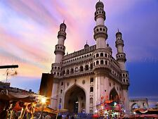 PHOTO LANDMARK CHARMINAR MOSQUE MONUMENT HYDERABAD INDIA POSTER PRINT BMP10220