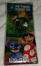 Disney Lanyard Lilo and Stitch Pin Starter Set Authentic FREE SHIPPING