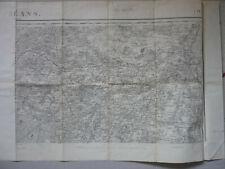 Carte Orléans. LOiret. Cachet militaire.