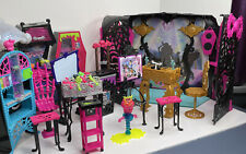 Large Monster High Furniture Lot - Stage, Kitchen, Misc Other Items.