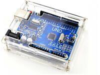 Clear Acrylic Enclosure Case DIY Kit - Compatible With Arduino UNO R3