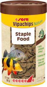 Sera 95g Vipachips Nature Tropical Crisps Fish Food 250mL Aquarium Variety
