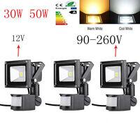 30W 50W Security Sensor Flood Light IP 65 Motion PIR Garden Light Waterproof