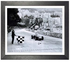 Stirling Moss Framed Signed Formula One Photo - Monaco Grand Prix