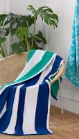 LOFT by Loftex Spa Bath Large Resort Towel, Blue Cabana, 35 in x 70 in