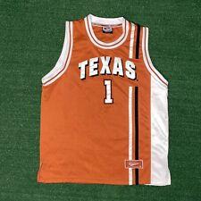 Men's Vintage Colosseum Texas Longhorns Orange Basketball Jersey #1 Size - M