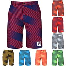 NFL Football Mens Logo Diagonal Stripe Walking Casual Shorts - Pick Team
