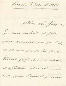 Charles de GAULLE / Lettre autographe signée de jeunesse. Avril 1922