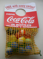Vtg 1960's Coca-Cola Coke Soda Bottle Hanger Marbles Promo NOS New