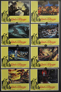 THE LORD OF THE RINGS 1978 ORIGINAL 11X14 NM LOBBY CARD SET CHRISTOPHER GUARD