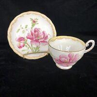 Tuscan Pink Rose Flower Teacup and Saucer Fine Bone China Vintage England