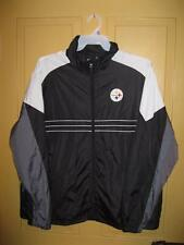 Pittsburgh Steelers Light Weight Jacket 100% Polyester NFL Reebok Size XL (O)