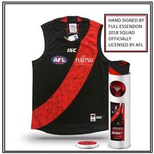 ESSENDON BOMBERS SIGNED 2018 JUMPER IN COLLECTORS TIN - HEPPELL FANTASIA DANIHER
