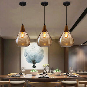 Modern Pendant Light Glass Ceiling Lamp Home Lights Kitchen Chandelier Lighting