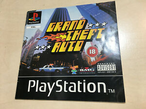 Grand Theft Auto Playstation 1 PS1 Manual only