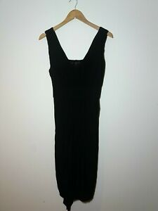 COAST DRESS SIZE 12 BLACK GRECIAN PARTY OCCASION PROM EVENT SLEEVELESS SHIFT NN
