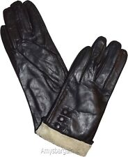 Woman's Gloves (L) Leather Gloves Hand Warmer, Winter Ladies' Dress Gloves #18