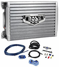 Boss Armor AR1500M 1500 Watt Mono Compact Size Amplifier+ Bass Remote+Amp Kit