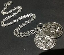 Celebrity Style double coin necklace vintage antique style boho Gift Wrapped