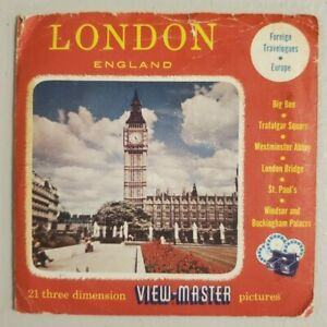 Viewmaster 1001 1002 1013 London England 3 Reels Sawyers S3 Foreign Travelogues