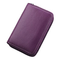 Genuine Leather Credit Card Holder ID Business Card Case Wallet 26 Card Slots
