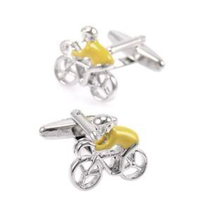 Yellow Jersey Tour De France Cycling Sports Cufflinks Cuff Bike Gift UK Seller