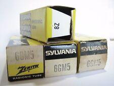 4 Sylvania/Zenith 6GM5 Power Amp. tubes - TV7B tested @ 72, 77, 77, 78, min:36