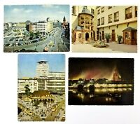 Frankfurt Germany Lot of 4 Color Postcards Unposted 5.5 x 4 Inches