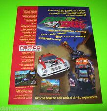 DIRT DASH By NAMCO 1995 ORIGINAL NOS VIDEO ARCADE GAME SALES FLYER BROCHURE