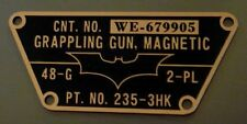 CUSTOM BATMAN THE DARK KNIGHT MAGNETIC GRAPPLE GUN TACTICAL DATA PLATE TDK