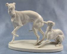 whippet porzellanfigur hundefigur figure figura Nymphenburg figur windhund mene
