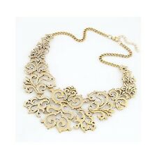 Vintage Gold Filigree Decorative Elegant Costume Jewellery Necklace