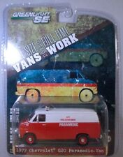RED 1977 CHEVROLET G20 FIRE DEPARTMENT VAN GREENLIGHT 1:64 SCALE DIECAST MODEL
