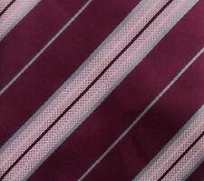ERMENEGILDO ZEGNA Tie 100% Silk Purple/Pink/Blue Color L59 W3.5