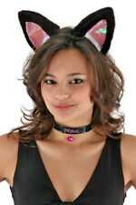 Large Cat Halloween Costume Accessories Kit Black/Pink Ears NEW UNUSED