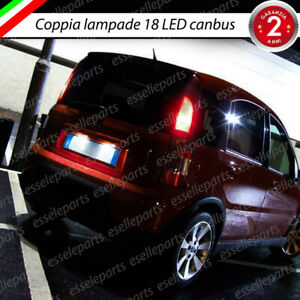 LAMPADE A LED LUCI TARGA 18 LED SPECIFICHE FIAT PANDA 169 6000K NO ERROR CANBUS