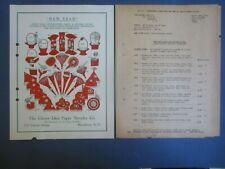 Old Vintage 1935 - New Year - Crepe Paper Party Decorations & Favors Circular