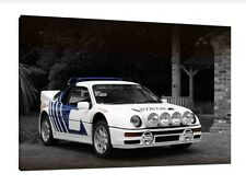 Ford RS200 - 30x20 Inch Canvas - Framed Picture Print Group B Rally