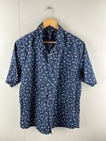 RDX Men's Short Sleeved Button Up Shirt Size 3XL Blue